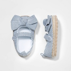 Baby Girls' Bow Crib Shoes - Cat & Jack™ Blue