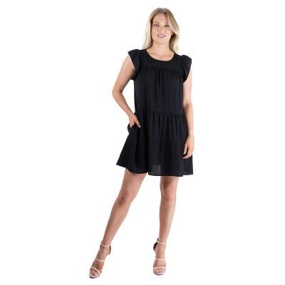 24seven Comfort Apparel Women's Babydoll Dress