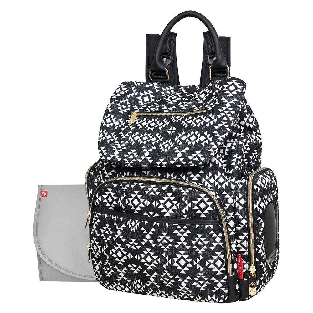 Coupons Fisher-Price Shiloh Southwest Diaper Bag Backpack - Black White