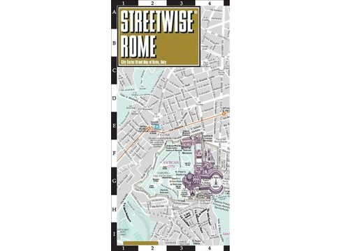 Streetwise Rome : City Center Street Map of Rome, Italy -  (Streetwise) (Paperback) - image 1 of 1