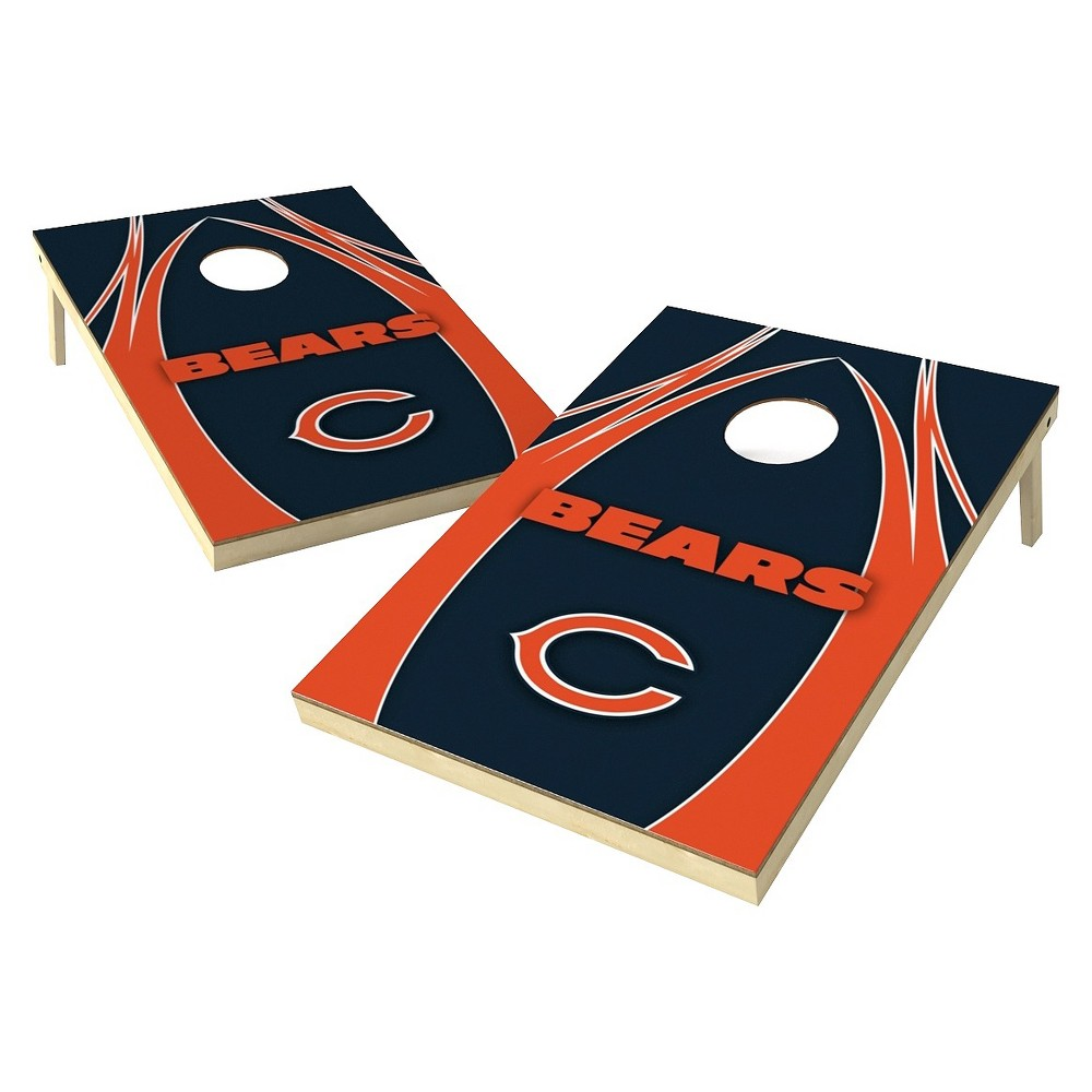 Chicago Bears Wild Sports Platinum Shield Cornhole Bag Toss Set - 2x3 ft.