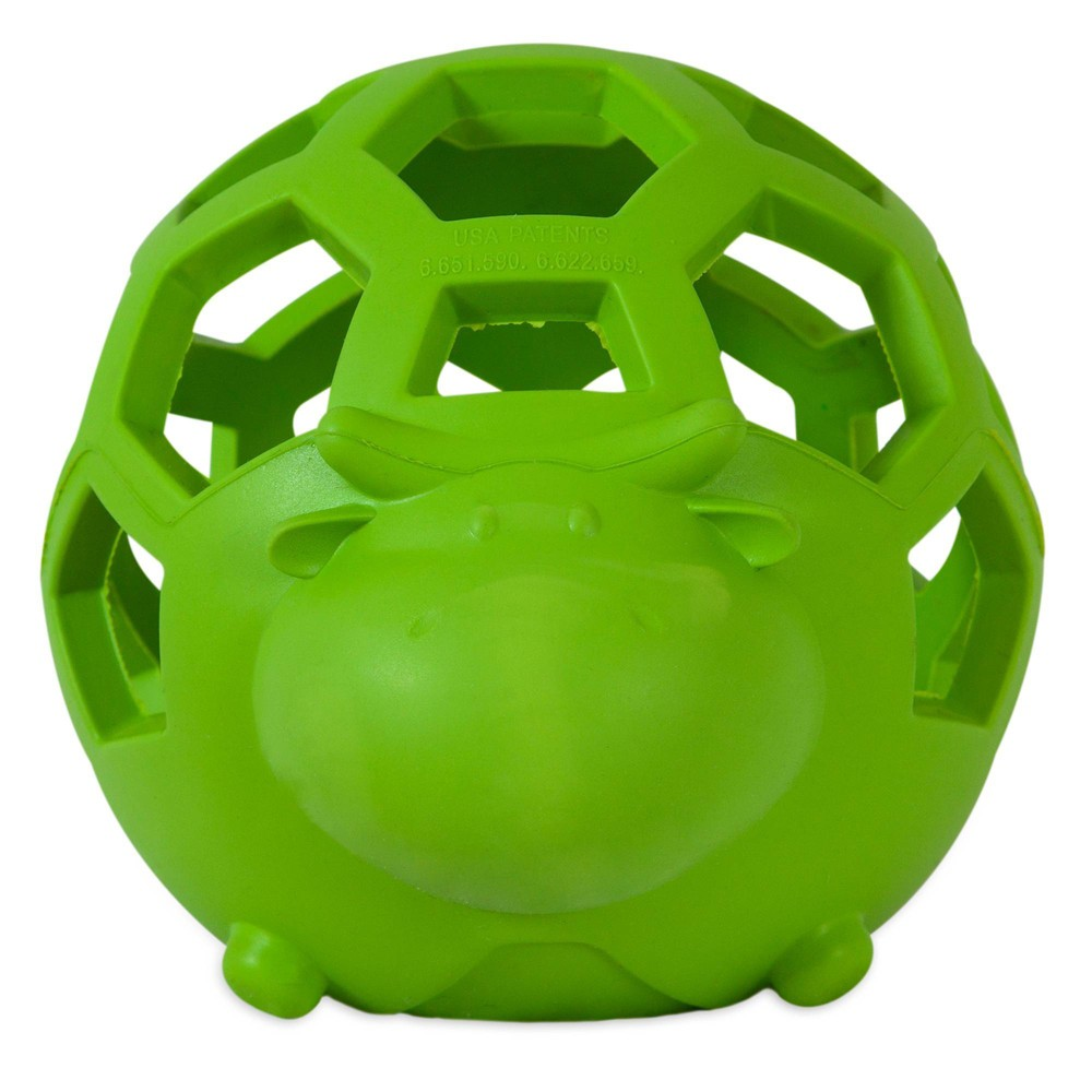 Jw Pet Hol Ee Cow Dog Toy Green S