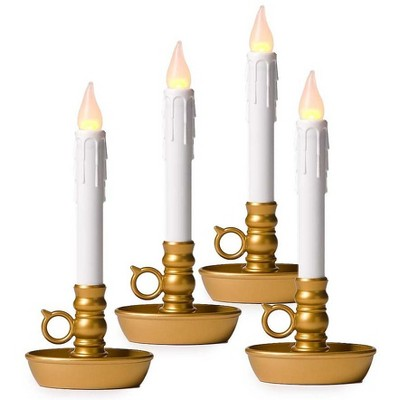 Plow & Hearth - 4-Pack Battery-Operated Single Window LED Window Candles
