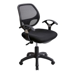 Midback Mesh Task Office Chair Black - Techni Mobili