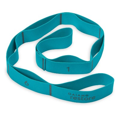 Gaiam Restore Resistance Band Stretch Strap - Teal