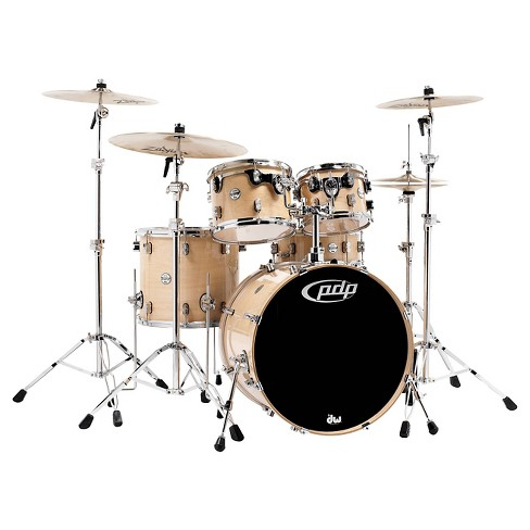Pacific PDP Concept Maple 5-Piece Drum Shell Pack with Chrome Hardware - Natural - image 1 of 1