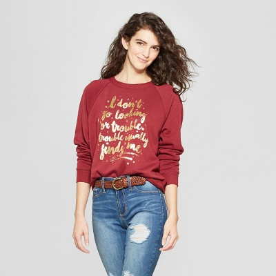 Women's Harry Potter Quote Graphic Sweatshirt (Juniors') Red by Warner Brothers