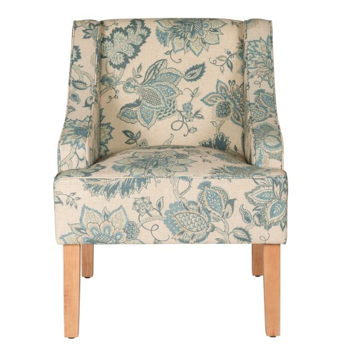 Stupendous Finley Swoop Arm Accent Chair Vintage Indigo Homepop Gmtry Best Dining Table And Chair Ideas Images Gmtryco