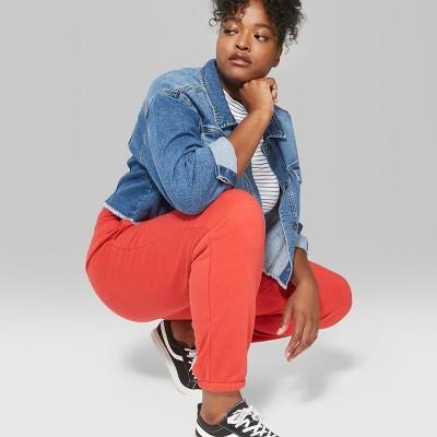 Women's Plus Size Vintage Sweatpants - Wild Fable™ Berry 3X