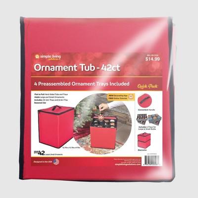 Simple Living Solutions Ornament Storage Tub