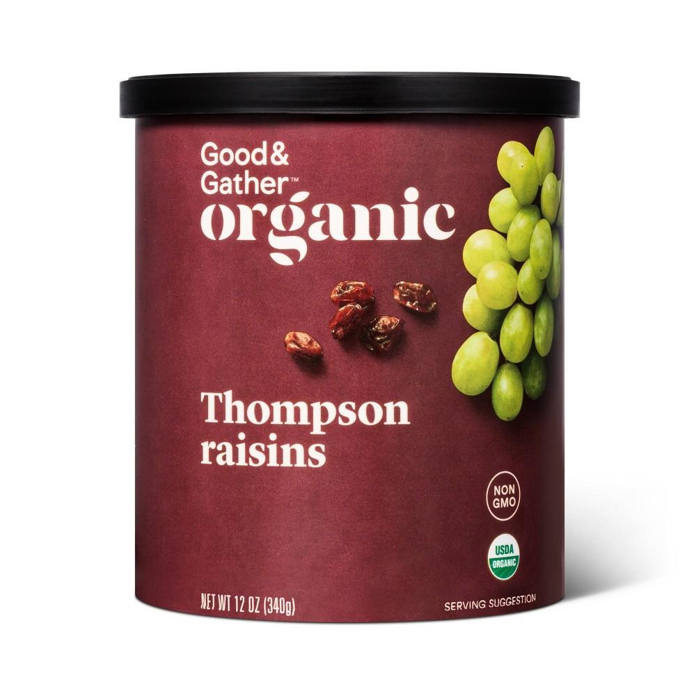 Organic Thompson Raisins 12oz Good Gather 8482