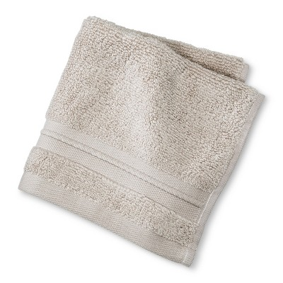 Spa Solid Washcloth Beige Linen - Fieldcrest®