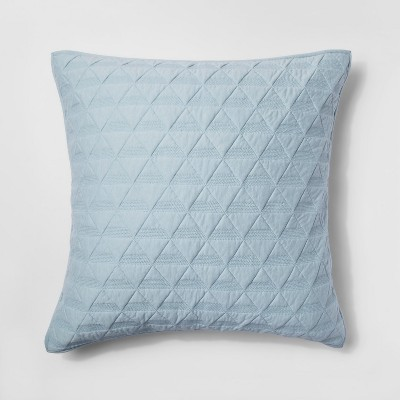 Caspian Sea Triangle Stitched Jersey Sham (Euro)- Project 62™ + Nate Berkus™