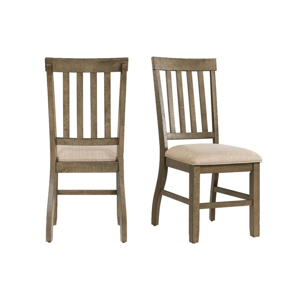Discounts Set of 2 Stanford Standard Height Side Chair Set Gray - Picket House Furnishings