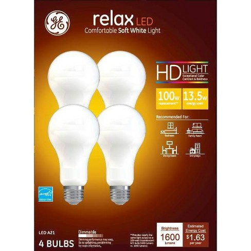General Electric 100W 4pk Relax Aline LED Light Bulbs - image 1 of 1