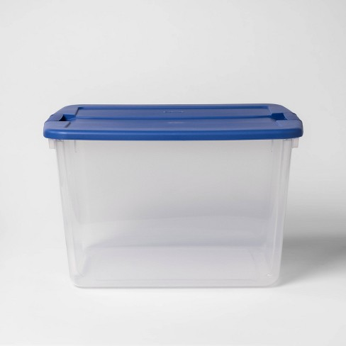 Utility Storage Tote Blue - Room Essentials™ - image 1 of 4