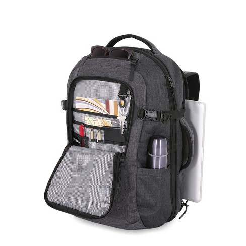 SWISSGEAR Getaway RFID Backpack Heather Gray   Target 4c76d8fbe5