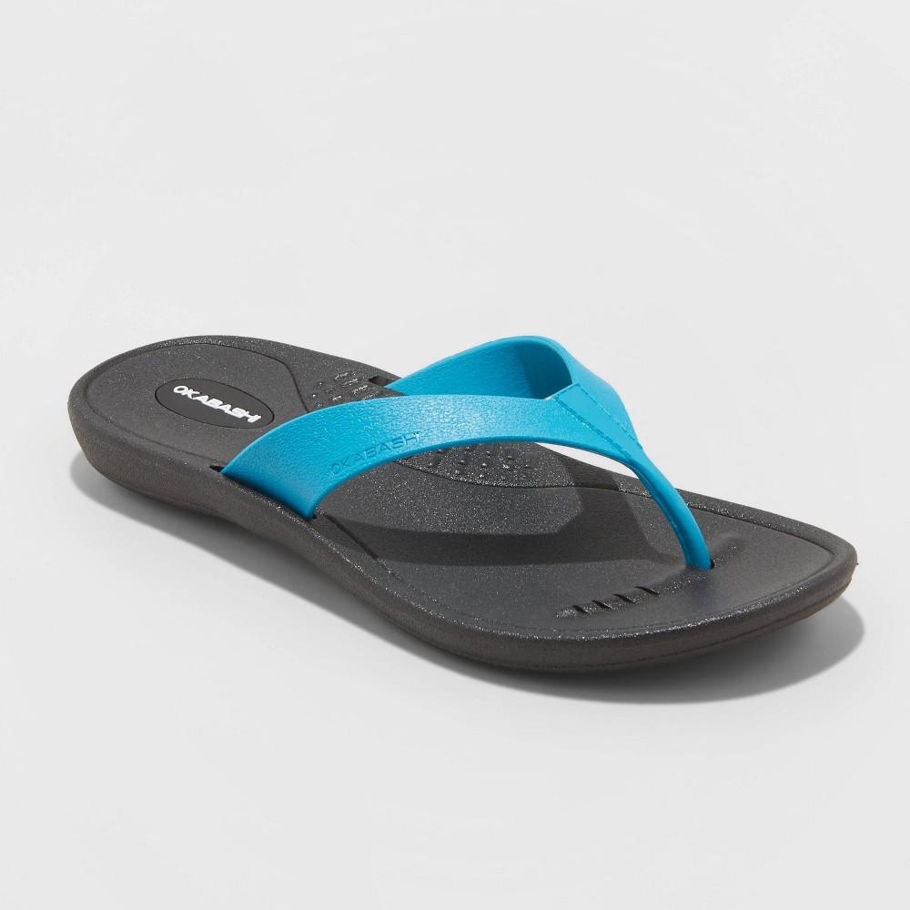 Women's Breeze Flip Flop Sandals - Okabashi - Turquoise L(9.5-10.5)
