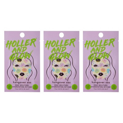 Holler and Glow Hangover SOS Face Mask Trio - 3ct/0.57 fl oz