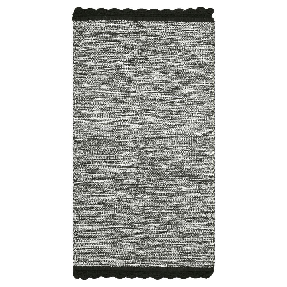 Black Spacedye Design Woven Area Rug 5'X8' - Safavieh