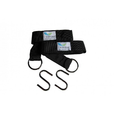 Vivere Eco-Friendly Tree Straps 2 Pack - Black