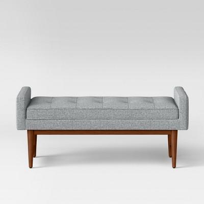 Verken Mid Century Modern Settee Bench Blue - Project 62™
