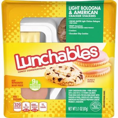 Oscar Mayer Lunchables Light Bologna & American Cracker Stackers - 3.1oz
