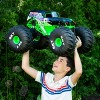 Monster Jam Official Mega Grave Digger All-Terrain Remote Control Monster Truck with Lights - 1:6 Scale - image 4 of 4