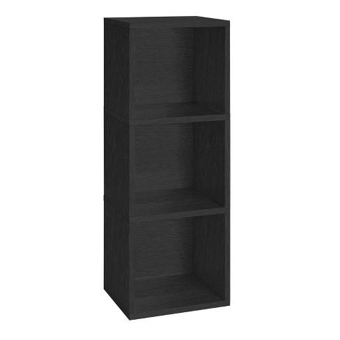 Way Basics Eco Friendly Wynwood 3 Cube Bookcase Organizer And Storage Unit Black Lifetime Guarantee