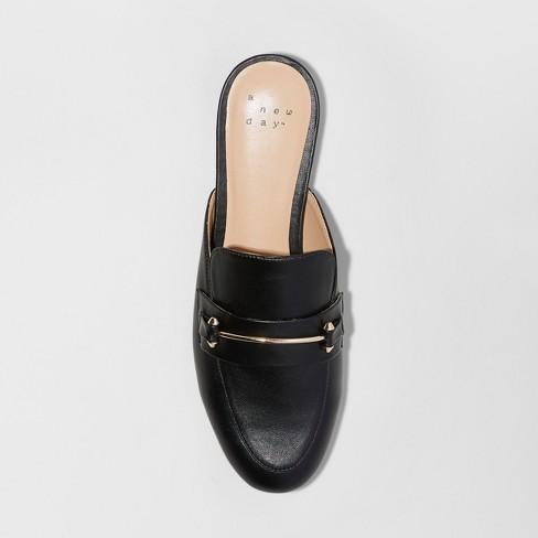 0588b2e9edd Women s Remmy Wide Width Backless Loafers - A New Day™ Black 5.5W   Target