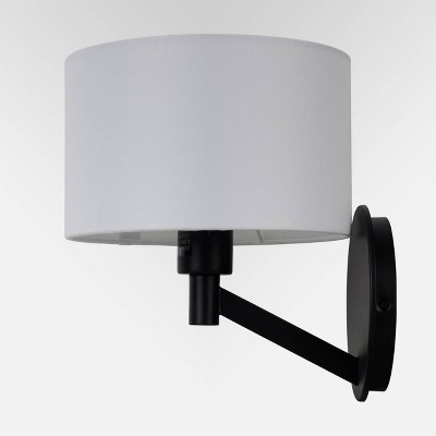 Modern Arm Wall Sconce (Includes LED Light Bulb) Black - Project 62™