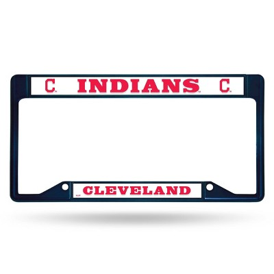 MLB Cleveland Indians Colored Chrome License Plate Frame