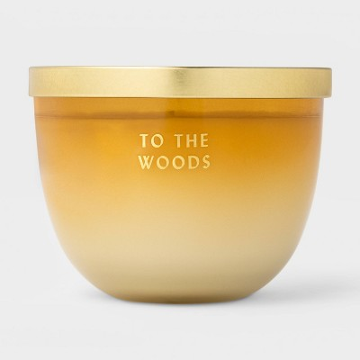 11oz Lidded Colored Glass In The Woods Candle - Opalhouse™