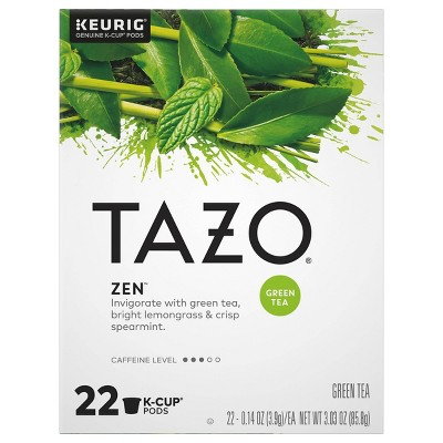 Tazo Zen Tea - Green Tea Keurig K-Cup Pods - 22ct