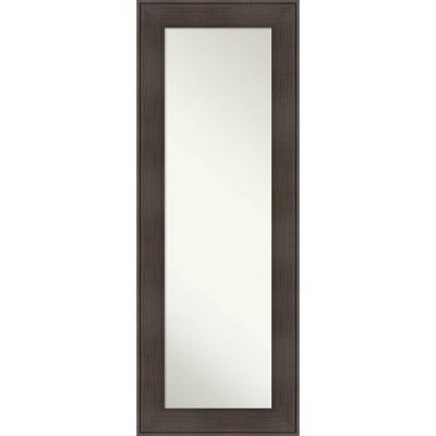 "20"" x 54"" William Framed Full Length on the Door Mirror Espresso  - Amanti Art"