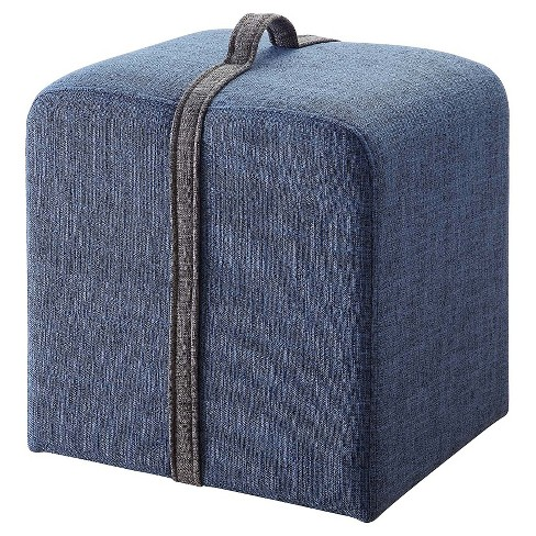 Crosby Ottoman- Blue- Designs4Comfort - image 1 of 2