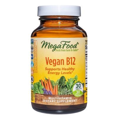 MegaFood Vegan B12 Supplement - 30ct