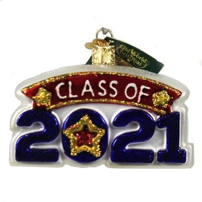 """Old World Christmas 2.5"""" Class Of 2021 Ornament Graduate Dated  -  Tree Ornaments"""