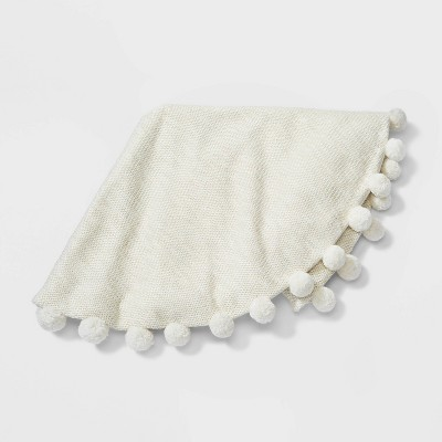 "48"" Pompom Christmas Tree Skirt Ivory - Wondershop™"