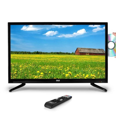 Pyle  PTVDLED40 40 Inch Widescreen 1080p LED HD TV Television with Multimedia DVD/CD Disc Player, Stereo Speakers, Remote Control, HDMI & RCA Input