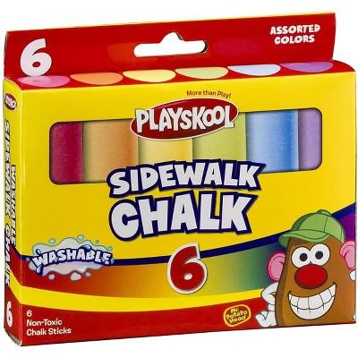 Playskool Playskool 6-Piece Washable Sidewalk Chalk