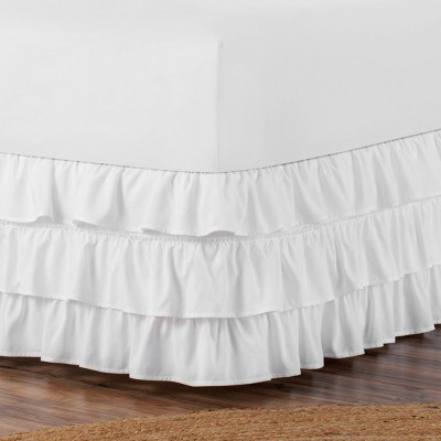 "Belles & Whistles 3-Tiered Ruffle 15"" Drop Bed Skirt"