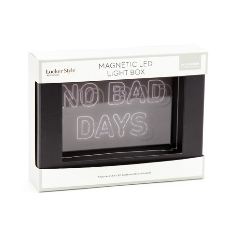 Magnetic LED Light Box No Bad Days - Locker Style - image 1 of 3