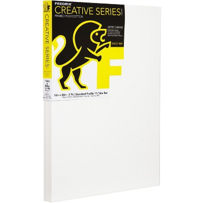 Fredrix Creative Series Pre-Stretched Artist Canvas, 16 x 20 in, White, pk of 2