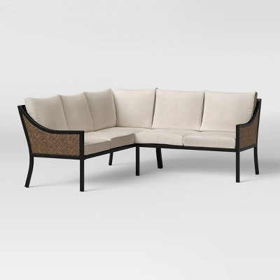 Caning Modern Patio Sectional - Courtyard Creations