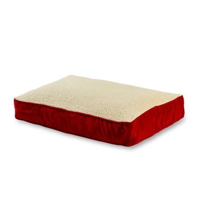 Kensington Garden Buster Rectangle Pillow Dog Bed - Crimson