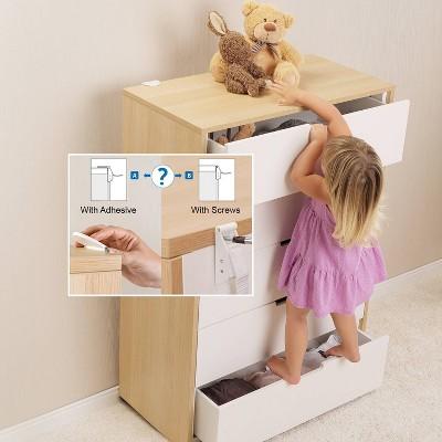 Qdos Zero-Screw Furniture Anti-Tip Kit - 2pk