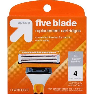 Men's Five Blade FITS Cartridges 4ct - up & up™