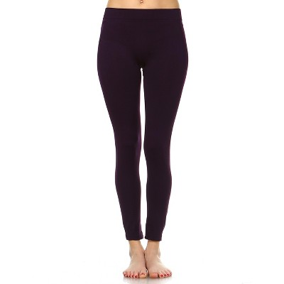 Women's Slim Fit Solid Leggings - One Size Fits Most - White Mark