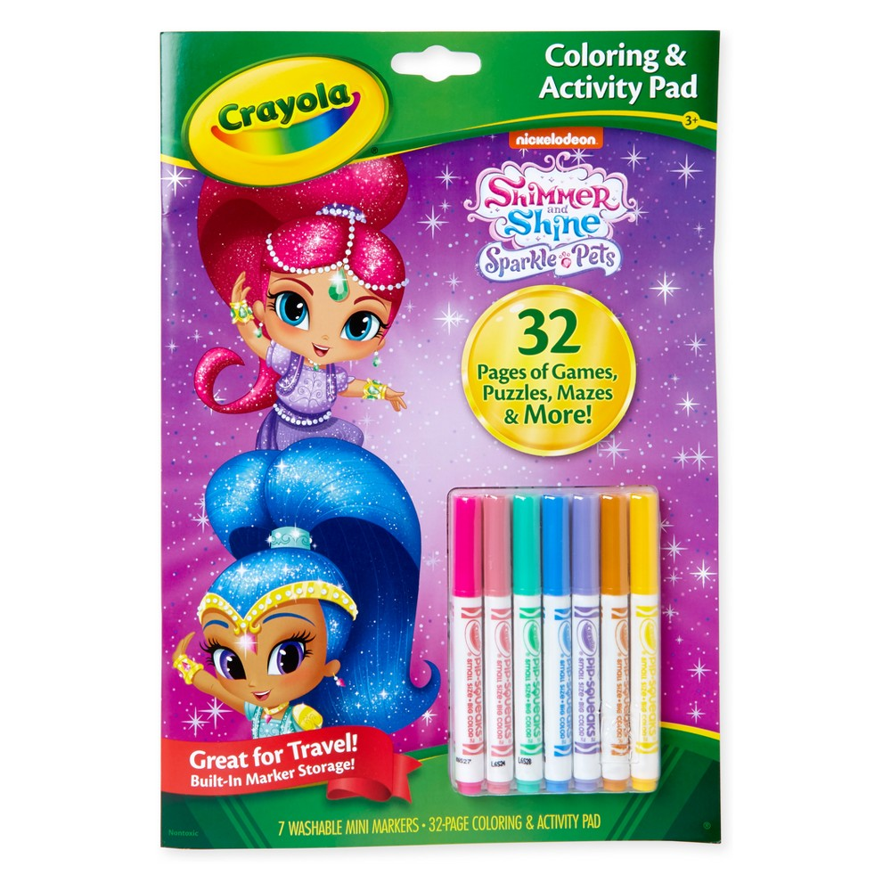 Crayola Shimmer and Shine Coloring & Activity Pad, White